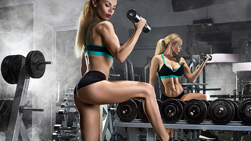 Young Fit Girl Working Out Weights Shark Nutrition